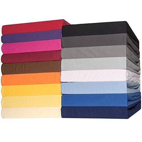 CelinaTex Lucina Spannbettlaken 2er-Set 90x200-100x200 anthrazit grau Jersey Baumwolle Spannbetttuch Doppelpack Standardmatratze 0003407