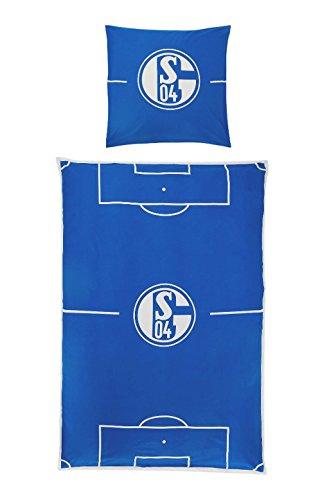FC Schalke 04 Baumwoll-Bettwäsche Spielfeld 135x200cm