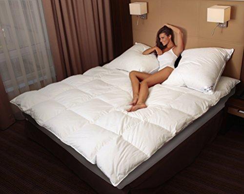 Mayaadi-Home MA49 Warme Daunendecke 200x220cm Daunen 2500 Gr. Extra WARM Bettdecke Decke Steppdecke 100 prozentiges Naturprodukt