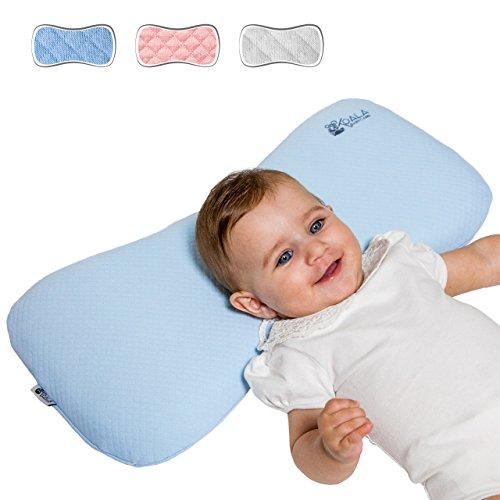 0-36 Monate Orthopädisches abziehbares Babykissen (mit Ersatzkissenbezug). Es vorbeugt der Plagiozephalie. Koala Babycare® – Koala Perfect Head MAXI – Blue – Maxi