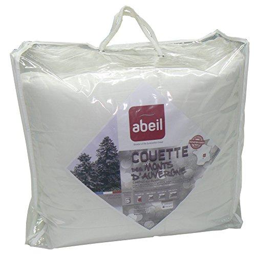 Abeil 15000001021 Daunen-Bettdecke, Daunen aus den Monts d'Auvergne, Baumwolle/Polyester, 200 x 140 x 5 cm, ungebleicht