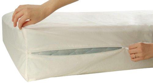 Allersoft Bettwanzen-, Staubmilben- & Allergiekontroll-Matratzenschutzumhüllung aus 100 Prozent Baumwolle, 90 x 200 x 15 cm