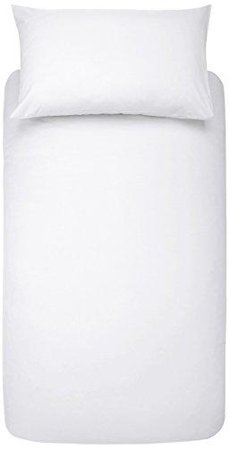 AmazonBasics - Bettwäsche-Set, Mikrofaser, 135 x 200 cm - Weiß