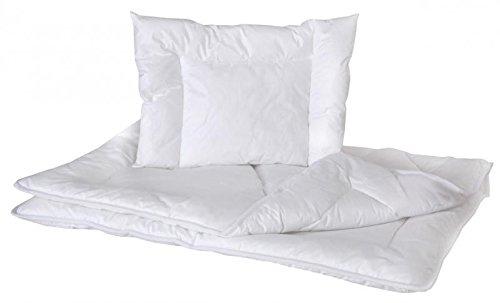 Baby Comfort Antiallergenes Set aus Bettdecke und Kissen, für Babybetten, 120x90cm, Weiß