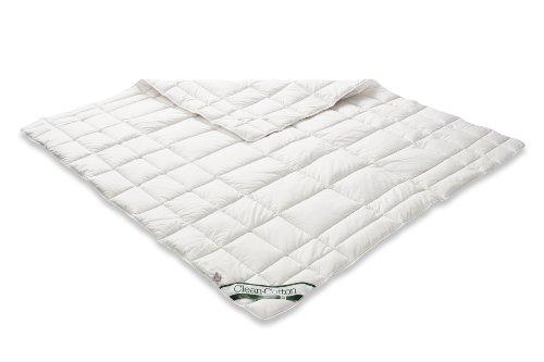 Badenia 03 882 190 000 Bettcomfort Spannauflage Clean Cotton, 180 x 200 cm, weiß