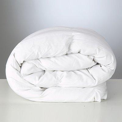 Bettdecke - Baumwolle/Polyester - Hohlfaser - Weiß, Single/Einzel, 15,0 Tog