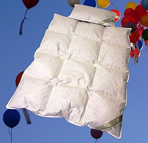 Betten Hofmann Baby Kinder Daunenbett Ganzjahresdecke Daunendecke Set 100x135 cm mit Kopfkissen 40x60 cm
