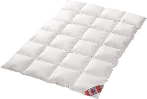 Canada Dreams Luxus extra warmes Winterbett Daunendecke Wärmegrad 5 Luxus Daunenflaum ☆☆☆☆☆ (155x220 cm)