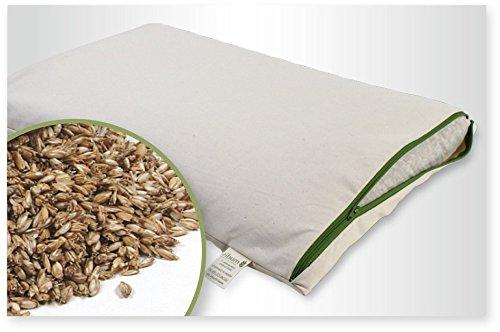 Dinkelkissen 40x60cm,100% Bio Dinkelspelz,mit abnehmbaren waschbares 100% Bio Baumwolle-Inlett