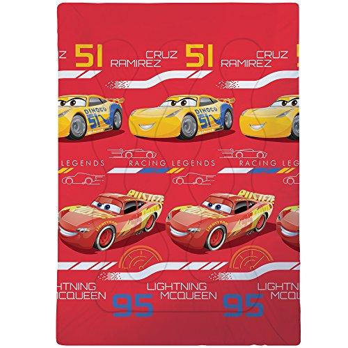 Disney Cars Legends Bedruckte Bettdecke, Polyester, Rot, 140 x 200 cm