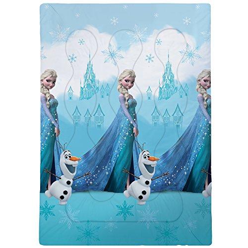 Disney Frozen Castle Bedruckte Bettdecke, Polyester, Hellblau, 140 x 200 cm
