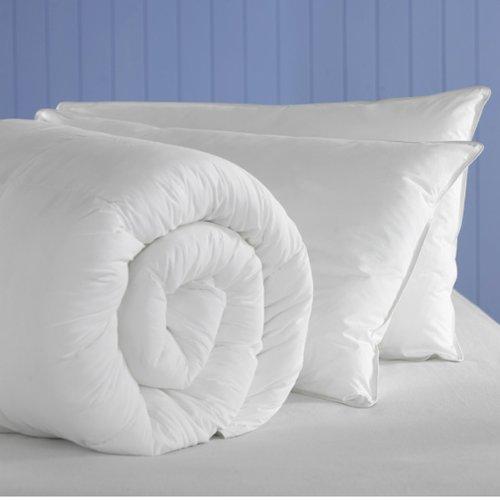 Federbett aus Poly-Baumwollgewebe, Polyester und Hohlfaser Bettdecke Duvet., 15,0 Tog, Super-King-Size-Betten, mit 2 Kissen, hergestellt von Bouncy Sleep Smile