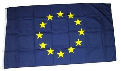Flaggenking Fahnen/Flaggen, Europa 12 Sterne Neu, wetterfest, blau, 150x90x1 cm, 17029