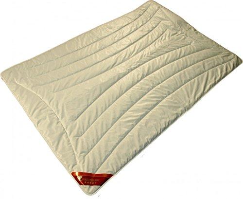 Garanta Trio-Warm Bettdecke 135 x 200 cm - Warme Trio Winter Kamelhaar Decke 1800 g - Bezug Premiumbatist Aloe Vera (100% Baumwolle)