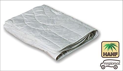 Hanf Bettdecke 135x200 Steppdecke extra leichte Bio Bettdecke waschbar