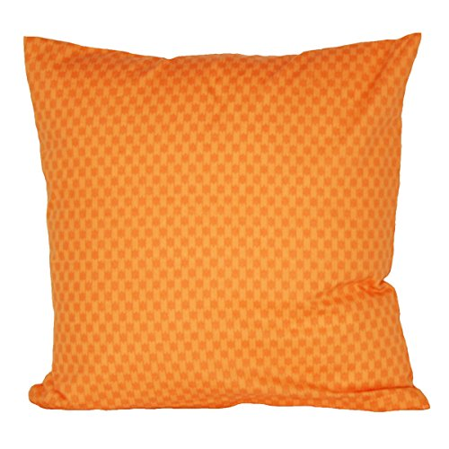 Hans-Textil-Shop Kissenbezug 40x40 cm Streifen Muster Orange, Baumwolle, Sofakissen, Kopfkissen, Couchkissen