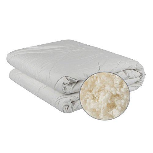 Homescapes natürliche Australische Wolle Bettdecke 135x200cm für Herbst/Winter mit 100% Baumwollbezug Atmungsaktiv und für Allergiker Geeignet