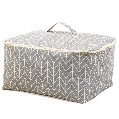 Hosaire 1x Kreative Baumwolle Aufbewahrungstasche Multifunktions Staubdicht Durable Storage Tasche für Kleidung Quilt Grau