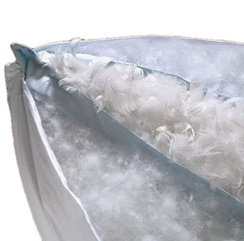 """""""Luxus"""" 3-Kammer Kopfkissen 80x80 cm Daunen Federn mit 1200g sehr gut und prall gefüllt (80x80)"""