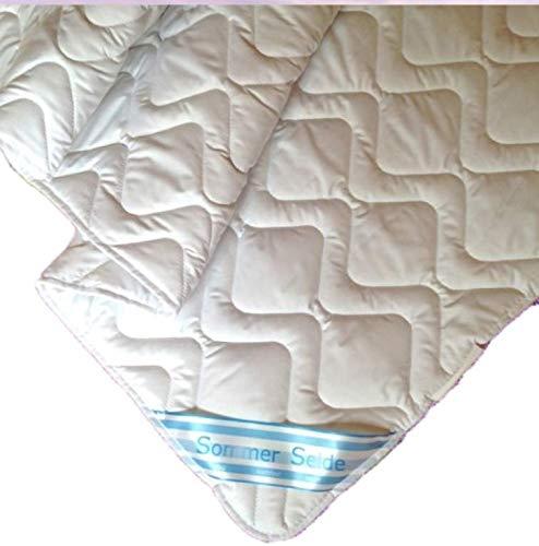Micro Revital SEIDE Sommer Bettdecke 240x220 cm, Sommerdecke 60% Seide, 40% Baumwolle waschbar Sommerbettdecke (240 x 220 cm)