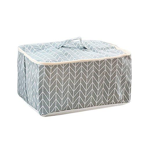 Monbedos Aufbewahrungstasche für Bettdecken und Kissen Wasserdicht Aufbewahrungstasche aus Baumwolle 48*40*23cm Grau