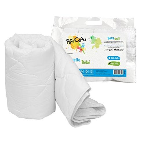 Pati'Chou weiche und warme Winter Kinder Bettdecken (100% Baumwolle Obermaterial, Tog 4) 120x150 cm