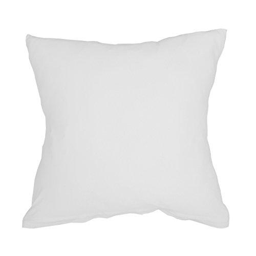 Qool24 Jersey Kissenbezug Baumwolle mit Reißverschluss Kissenhülle Kopfkissen Bezug Hülle 11 Maßen und 8 Farben Weiß 60x60 cm