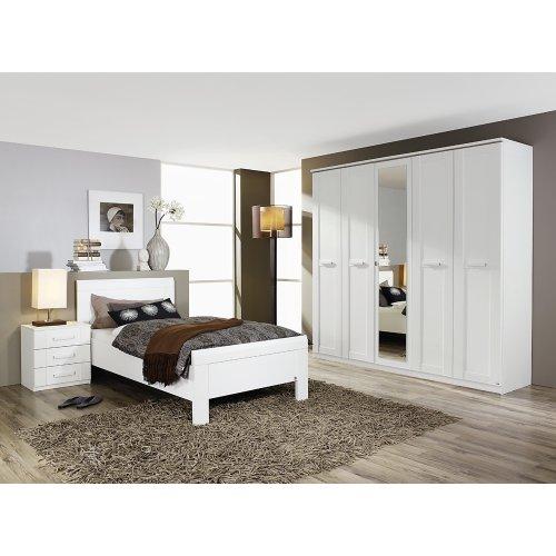 Rauch Schlafzimmer-Set Utrecht, Alpinweiß mit Kleiderschrank 5trg.