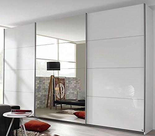 Rauch Schwebetürenschrank 3-türig Hochglanz weiß/Spiegel 361 x 229 x 62 cm