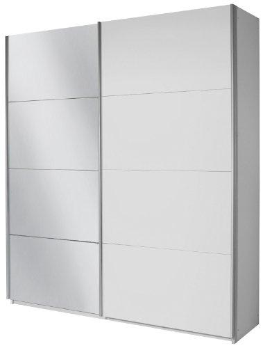 Rauch Schwebetürenschrank Weiß mit Spiegel 2-türig, BxHxT 181x210x62 cm