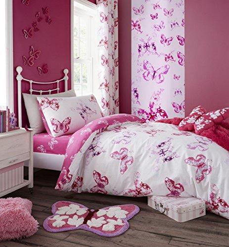 Rosa Schmetterlinge Single Bettwäsche