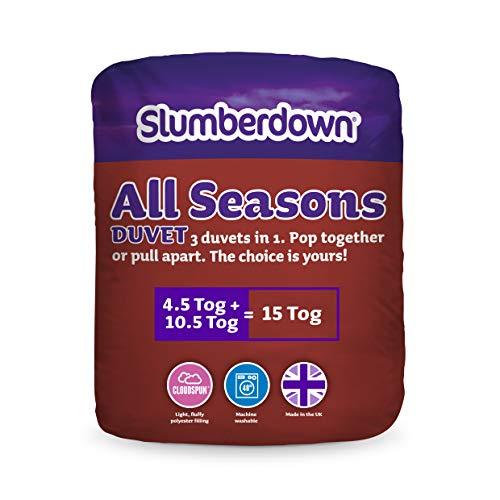 Slumberdown Kombi-Bettdecke für alle Jahreszeiten, 15Tog, King Size