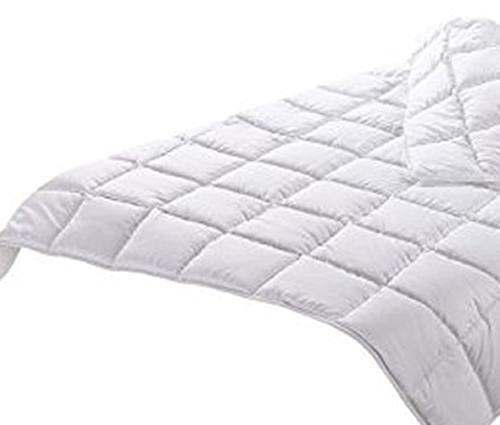 Steinhoff Sommer Bettdecke NAG 160x210cm, 100% Polyester, 670g, Weiß, gesteppt atmungsaktiv