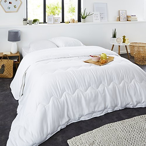 Sweet Night 0210190Bettdecke 4Jahreszeiten Polyester Weiß 220x 240cm