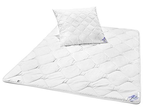 Traumnacht 3-Star Bettenset Mono, 1 x Übergangsbettdecke 135 x 200 cm und 1 x Kopfkissen 80 x 80 cm, weiß