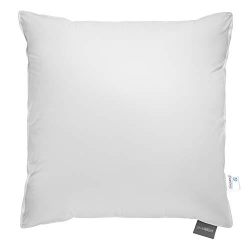 Traumnacht Komfort Dreikammerkissen, mit hochwertigen Daunen und Federn Klasse, DIN EN 12934, 80 x 80 cm, Weiß