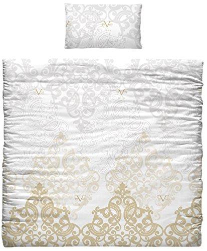 Versace 19V69Bettdecke und Kopfkissenbezug für Bettwäsche, Baumwolle, Gold, 35x 25x 23cm, 7Stück