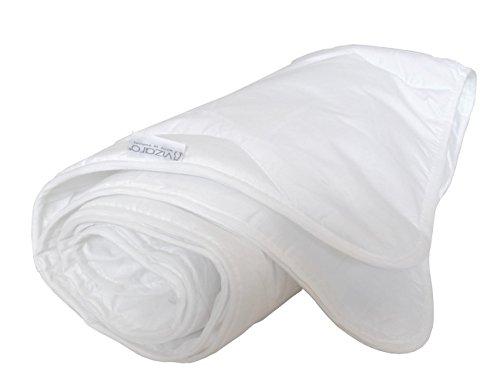 Vizaro - STEPPDECKE / BETTDECKE (90x120cm) 150g für Kinderwiege 60X120cm - Sommer und Übergangszeit, sehr frisch, Atmungsaktiv, waschbar - 100% Baumwolle - Hergestellt in der EU mit kontrolle gegen schädlichen substanzen - SICHERES PRODUKT: das baby kann ohne risiko daran lutschen - Mondweiß