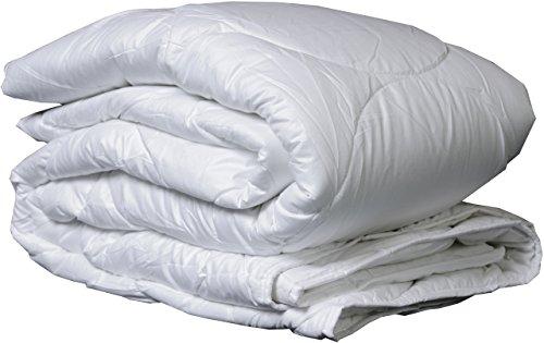 Warme Wintersteppdecke 155 x 200 cm aus 100 % Polyester – dickes Oberbett für kalte Winternächte ca. 500 g/m² – mit silikonisierten Hohlfasern gefüllte Winterdecke mit Mikrofaser-Bezug Übergröße