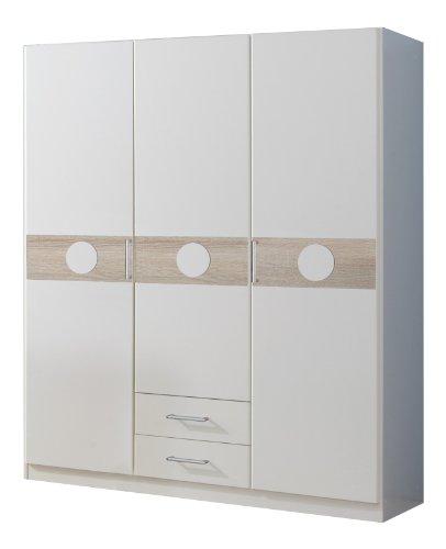Wimex Kleiderschrank/ Drehtürenschrank Kimba, (B/H/T) 135 x 181 x 58 cm, Weiß