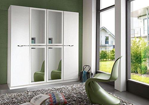 Wimex Kleiderschrank/ Drehtürenschrank Pirna, 4 Türen, (B/H/T) 180 x 198 x 58 cm, Weiß