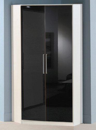 Wimex Kleiderschrank/ Eckschrank Gamma, (B/H/T) 95 x 198 x 95 cm, Schwarz