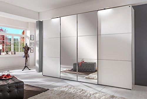 Wimex Kleiderschrank/ Schwebetürenschrank Escape, 4 Türen, (B/H/T) 350 x 236 x 65 cm, Weiß