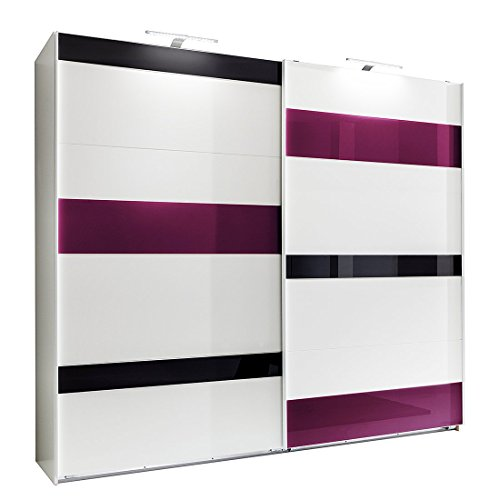 Wimex Kleiderschrank/ Schwebetürenschrank Mondrian, 2 Türen, (B/H/T) 180 x 210 x 65 cm, Weiß