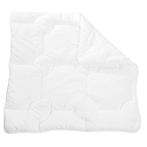 Zollner Kinderdecke Kinderbettdecke, Größe ca. 80x80 cm (weitere verfügbar), Weiß