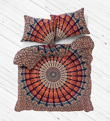 """indischen Kunst Baumwolle Bettwaren von """"Sophia Art, Peacock Mandala Bettbezug Twin Größe Hippie Bettdecke Doona Baumwolle Überwurf Bohemian Gypsy (Multi)"""
