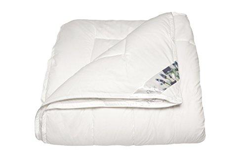 """polydaun """"Frisk"""" 4Jahreszeiten Bettdecke, Einzelbett, weiß, 140x 220cm"""