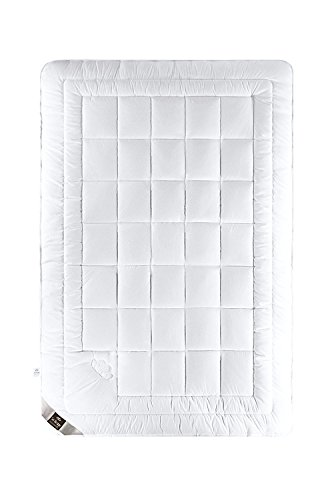 sei Design Air Dream Premium Bettdecke Winter 135x200 mit weichstem Mako-Batist Bezug - 100% Baumwolle und Hochwertiger Ateliersteppung.Für Allergiker Empfohlen.