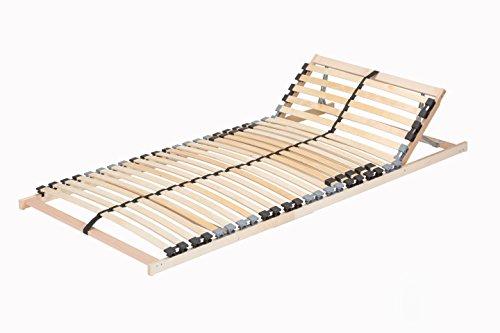 TAURO 22914 7 Zonen Lattenrost, Geeignet für alle Matratzen, Kopfteil verstellbar, Komfort Lattenrost mit 28 Leisten