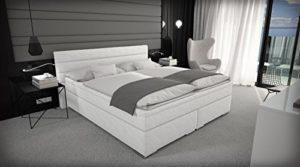Sedex 'Box' Boxspringbett 180x200cm / Bett/Doppelbett/Hotelbett/Kunstleder - weiß